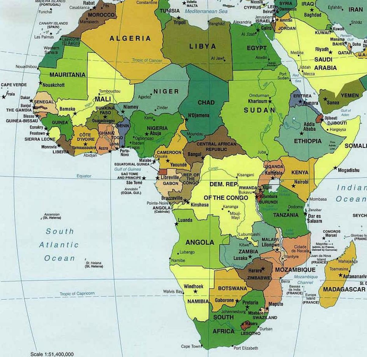 Zambia Og Sydafrika Kort Kort Over Zambia Og Sydafrika Ostlige